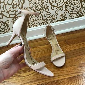 Sam Edelman Eleanor Nude Snake Strap Sandal